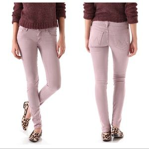 MOTHER Denim The Looker POP Pink Skinny Jeans